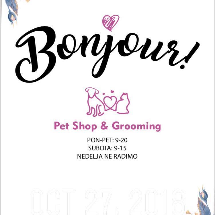 Šišanje pasa i trgovina pet shop Bonjour